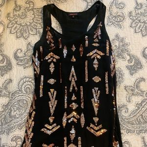 Nameless Sequin Tribal Design Dress